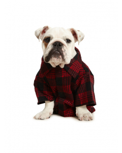 Lowes Dog Flannelette Shirt Red Black Check