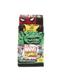 Marvel Comics 3pack Mens Crew Socks