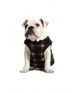 Lowes Quilted Black White Dog Vest