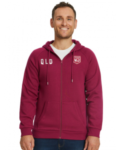 QLD Maroons Mens State of Origin Jacket with Hood