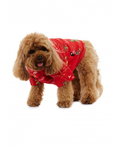 Lowes Dog Red Aloha Rayon Shirt
