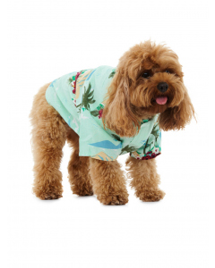 Lowes Dog Mint Hibiscus Rayon Shirt