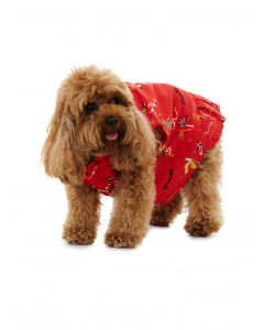 Lowes Dog Red Aloha Rayon Dress