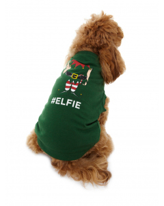 Lowes Dog Green Elfie T-Shirt