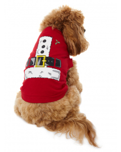 Lowes Dog Red Santa T-Shirt
