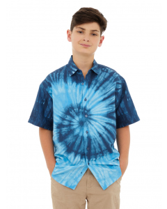 Lowes Kids Blue Tie Dye Shirt