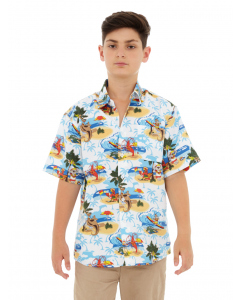 Lowes Kids Australia Island White Hawaiian Shirt