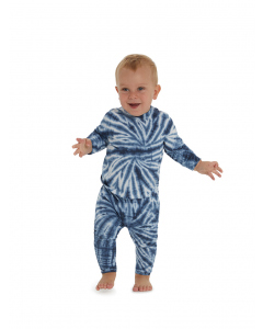 Lowes Baby Knitted Blue Tie Dye Legging