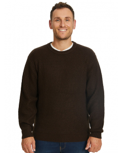Elliotts Chocolate Crew Neck Soft Touch Pullover