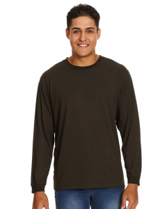 Lowes Olive Crew Neck Long Sleeve Top