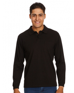 Lowes Black Knitted Long Sleeve Polo