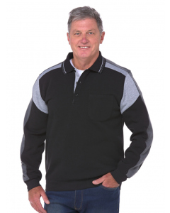Elliotts Black 3 Button Fleece Top
