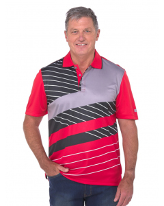 Cougars Red & Black Quik-Dry Sublimated Print Polo