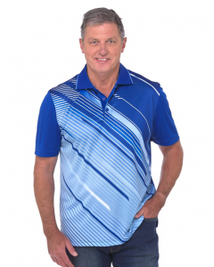Cougars Cobalt Quik-Dry Sublimated Print Polo