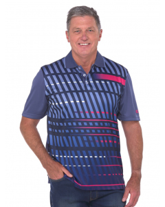 Cougars Steel Blue Quik-Dry Sublimated Print Polo