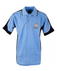 Sky/Navy/White SS Polo With Embroidery