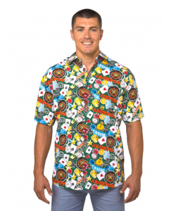 Lowes Green Casino Royal Print Hawaiian Shirt
