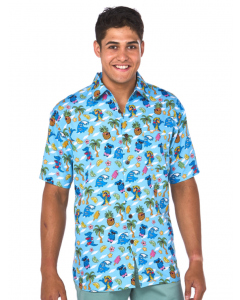 Lowes Aqua Australiana Print Hawaiian Shirt