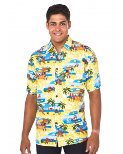 Lowes Yellow Beach BBQ Print Hawaiian Shirt