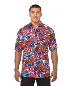 Lowes Red National Animals Print Hawaiian Shirt