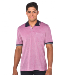 Lowes Pink Cotton Rich Birdseye Polo