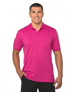 Lowes Plain Bright Pink Stretch Polo