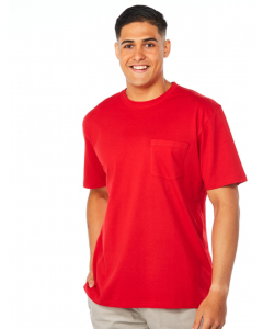 Lowes Red Basic Cotton Crew Neck T-Shirt