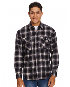 Lowes Black & Blue Check Flannelette Shirt