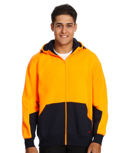 Traders 308 Orange Hi Vis Hooded Fleece Jacket