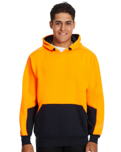 Traders 308 Orange Hi Vis Fleece Hoodie