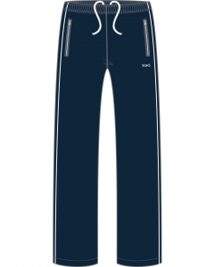 Navy Sports Trackpants With Embroidery