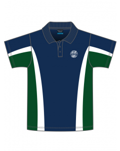 Short Sleeve Navy Polo With Panels