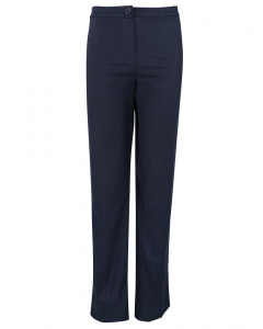 Girls Navy Pant With Embroidery