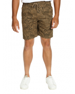 Lowes Stretch Elastic Waist Taupe Print Shorts