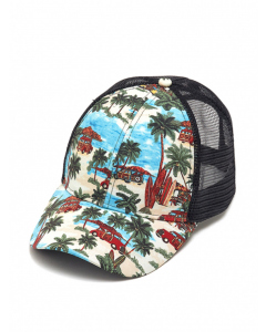 Cougars Tiki Bars & Cars Net Back Baseball Cap