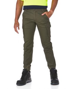 King Gee Green Tradies Stretch Cargo Hem Pants
