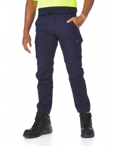 King Gee Navy Tradies Stretch Cargo Hem Pants