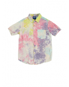 Lowes Kids Pink Tie Dye Woven Short Sleeve Shirt