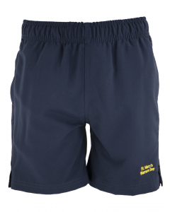 Navy Sport Short With Embroidery