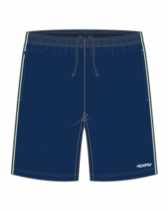 Navy Sports Short With Piping
