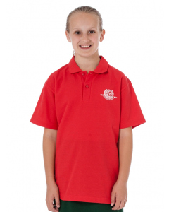 Short Sleeve Red Polo Top