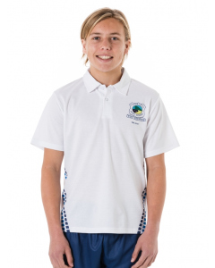White Sublimated Polo Top