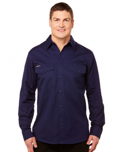 King Gee Work Cool 2 Long Sleeve Shirt Navy | King Gee | Shirts | Lowes