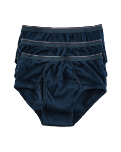 Lowes Fly Front Brief 3 Pack  Navy