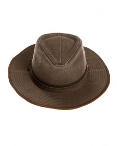 Cougars Brown Distressed Cotton Outback Hat