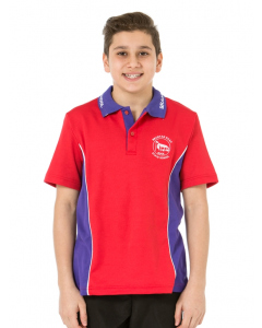 Sport SS Red/Purple Polo Top - Bock House