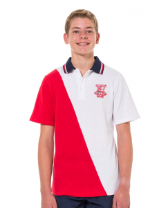Short Sleeve Panelled Polo Top