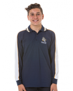 Long Sleeve College Polo Top-Snr