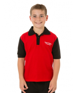 Red & Black Polo Top