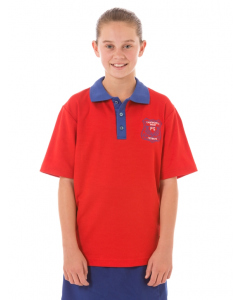 Red Sports Polo Top